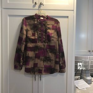 Purple/Brown Medium Merona Blouse